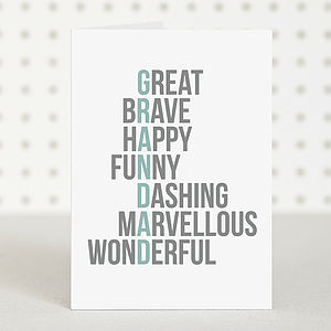 'Great' Grandad Birthday Card - gifts for grandparents