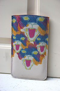 Angry Tigers Printed Leather Phone Case