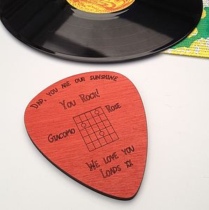 Personalised Guitar Pick Coaster - placemats & coasters