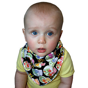 Bandana Dribble Bib Skulls & Pirates - baby care