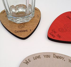 Personalised Plectrum Coaster - from the little ones