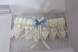 Vintage 'Something Blue' Bridal Garter - wedding fashion