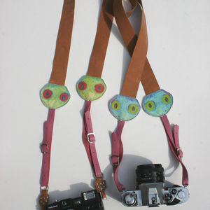 Finlay Frog Leather Camera Strap