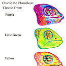 Charlie the Chameleon Colour Options