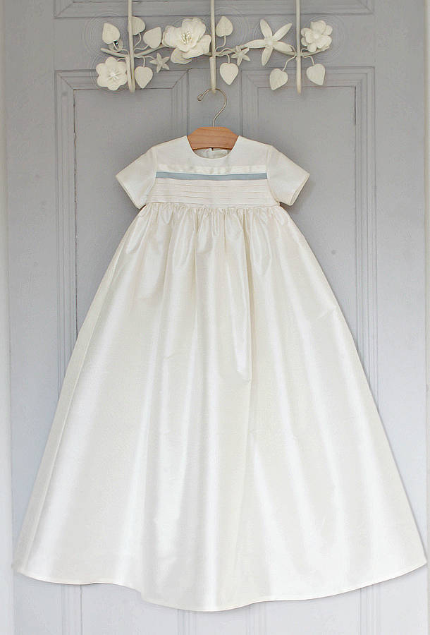 boys silk christening gown \'jack\' by adore baby | notonthehighstreet.com