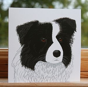 'Border Collie' Dog Card