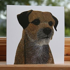 'Border Terrier' Dog Card