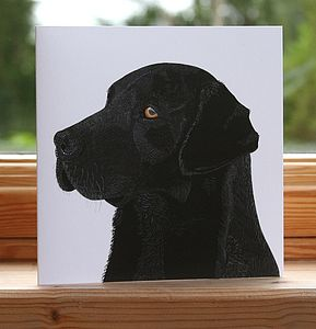 'Black Labrador' Dog Card