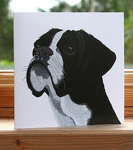 'Boxer' Dog Card