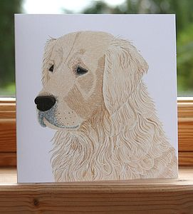 'Golden Retriever' Dog Card
