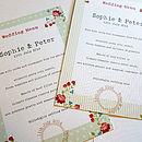 Vintage Floral Wedding Day Menu