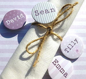 Wedding Party Personalised Favour Badge - wedding favours