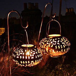 Pair Of Floral Lanterns - lights & lanterns