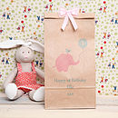 Personalised Girl Or Boy Birthday Age Bag