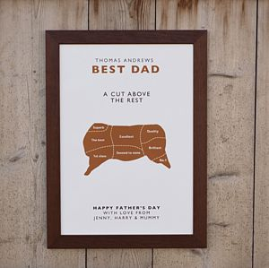 'Best Dad A Cut Above The Rest' Print - home sale