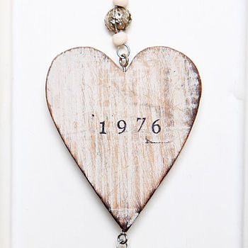 Personalised Wooden Hanging Heart
