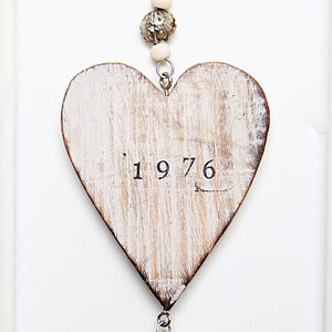Personalised Wooden Hanging Heart - interior accessories