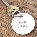 Personalised 'Man Space' Key Ring