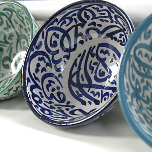 Moroccan Calligraphy Bowl - home accessories