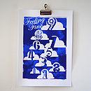 'Feeling Fine On Cloud Nine' Silkscreen Print