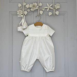 Boys Christening Romper 'Venice' - clothing