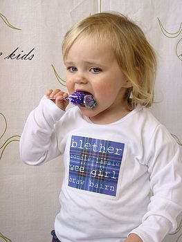 Scottish 'Blether' Girl's Long Sleeve Tshirt