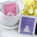 Personalised Tea Bag Favour