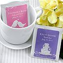 Personalised Tea Bag Favour