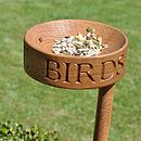Solid Oak Bird Feeder
