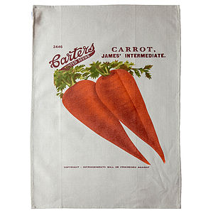 Carrot Tea Towel - kitchen accessories