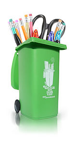 Wheelie Bin Desk Tidy - pens, pencils & cases