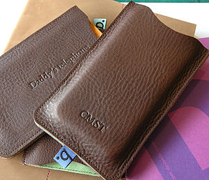 Classic Leather Sleeve For iPhone - technology accessories