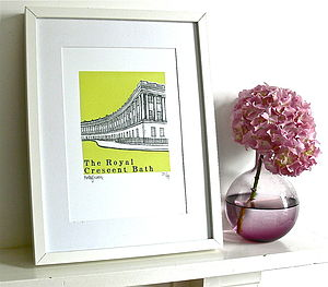The Royal Crescent Silk Screen Print - prints for christmas