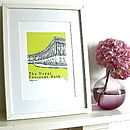 Thumb the royal crescent silk screen print
