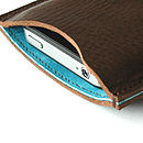 Turquoise Blue iphone sleeve