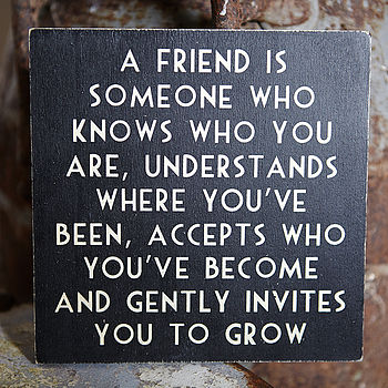 Square Wooden Friendship Signs