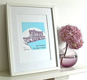 Palladian Bridge Silk Screen Print - posters & prints