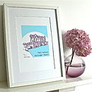 Palladian Bridge Silk Screen Print