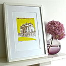 Thumb the holburne museum silk screen print