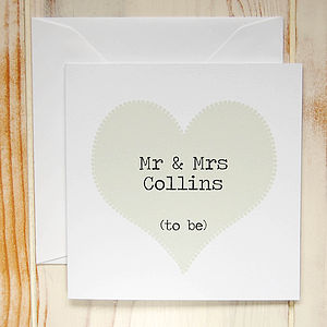 Personalised Engagement Card - engagement gifts