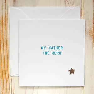 'My Father The Hero' Card