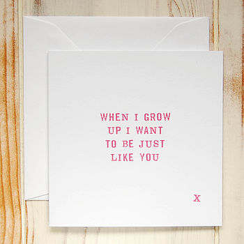 'When I Grow Up' Card