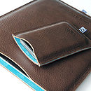 Turquoise Blue iPad Sleeve (with matching iPhone sleeve)