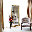 Simple Classic French Silver Mirror