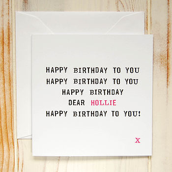 Personalised 'Happy Birthday To You' Card