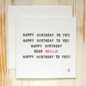 Personalised 'Happy Birthday To You' Card - birthday cards