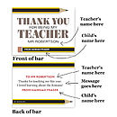 Personalised Thank You Teacher Chocolate