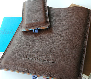 Classic Leather Sleeve For iPad - men's accessories