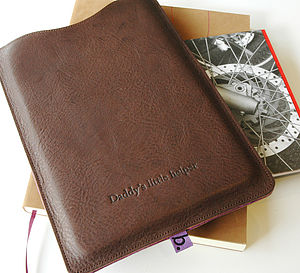 Classic Leather Sleeve For iPad Mini - bespoke accessories