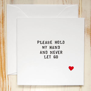 'Hold My Hand' Card